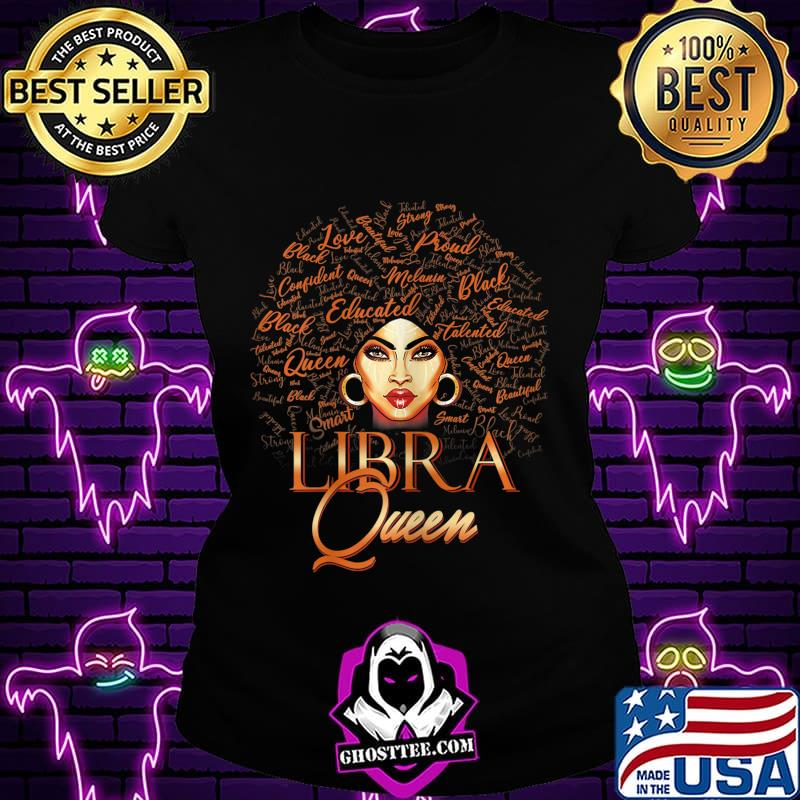 40a87eb3 womens libra queen born in september october melanin birthday t shirt ladiestee - Home