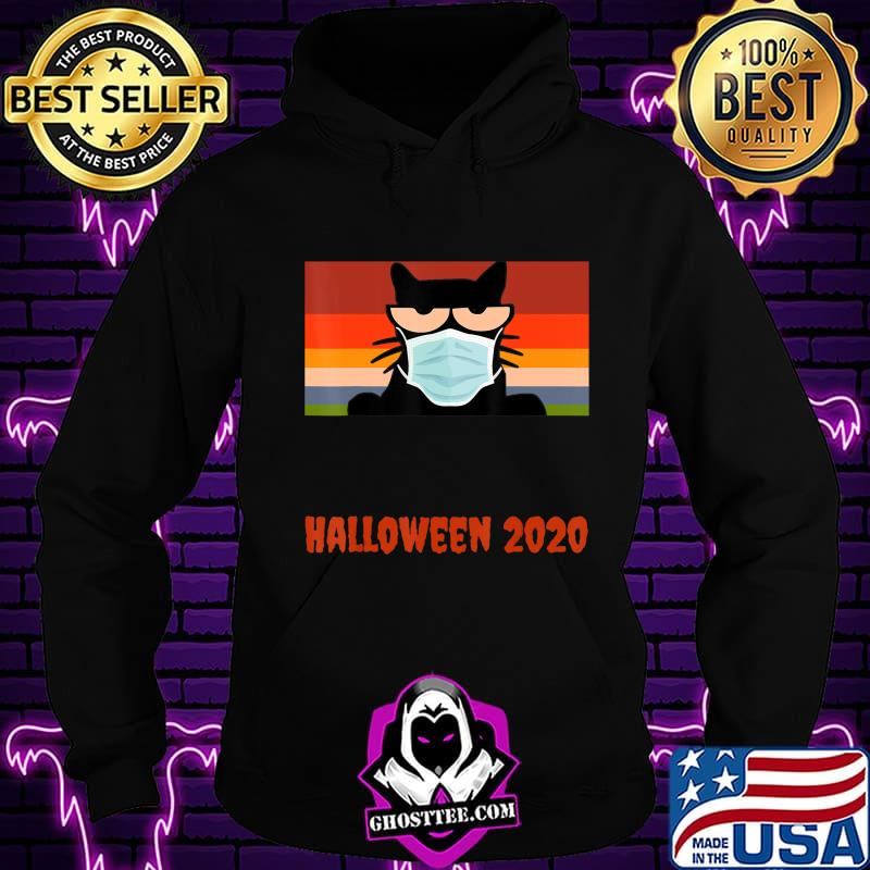 be0f34fb halloween 2020 funny black cat with mask t shirt hoodie - Home