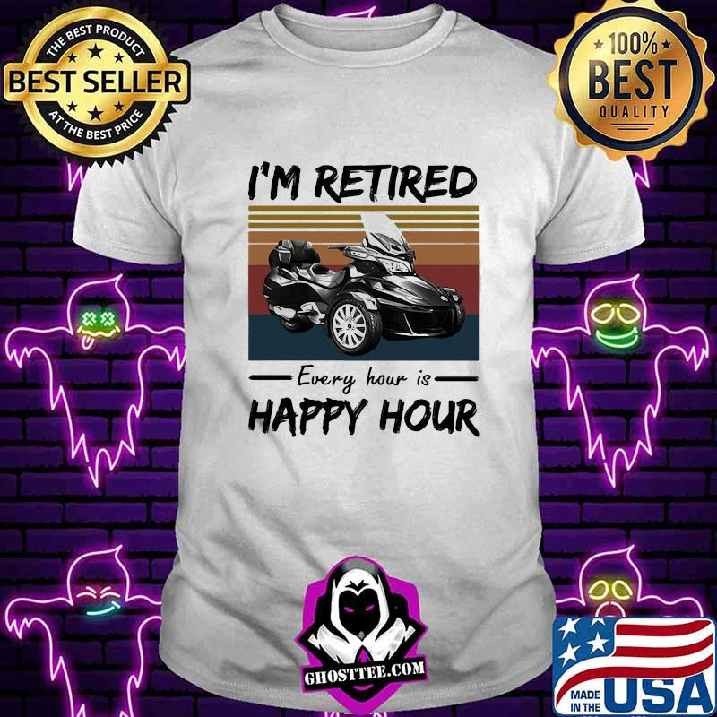 c5b5a5cd spyder i m retired every hour is happy hour vintage retro shirt unisex tee - Home