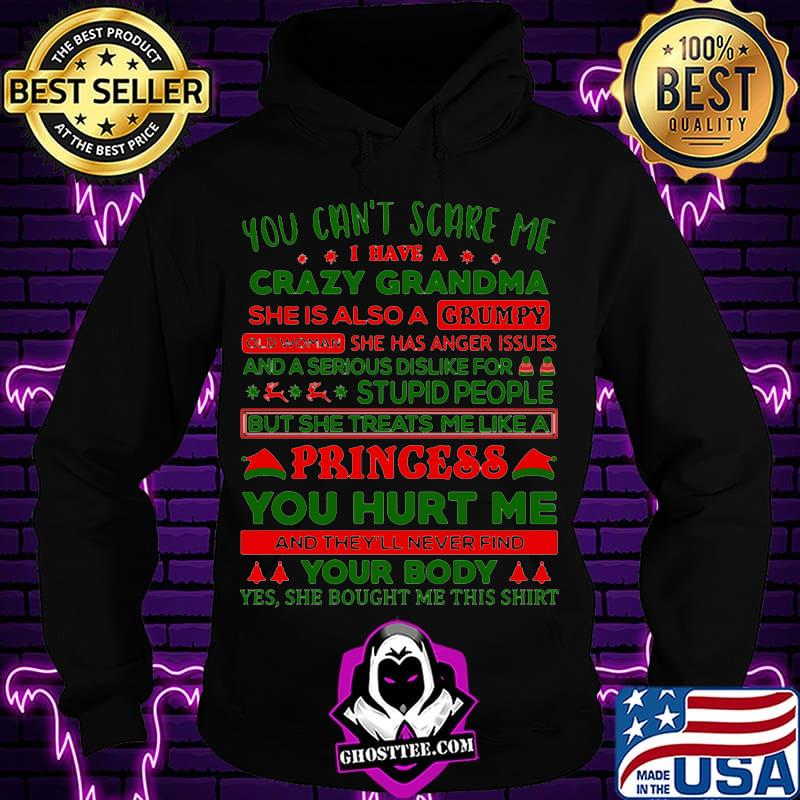 2d372dba you can t scare me i have a crazy grandma she is a also a grumpy xmas shirt hoodie - Home