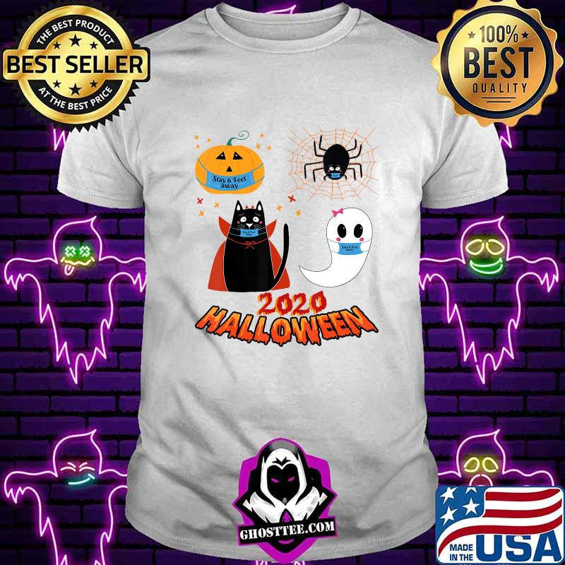 Halloween quarantine 2020 Stay 6 feet away funny crew gift T-Shirt
