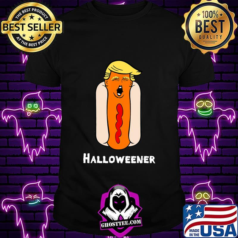 Trump Halloween Funny Weiner Hot Dog Head Trick Or Treat T-Shirt