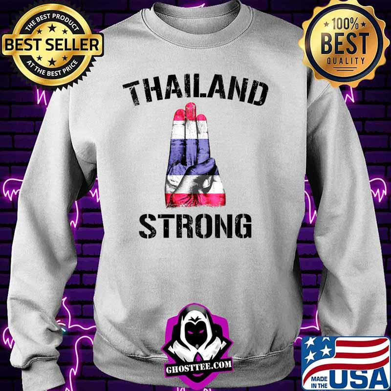 4b00bb4a thailand strong democracy now free thai support flag shirt sweater - Home