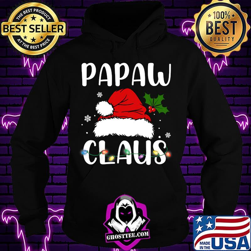 Santa Hat Papaw Claus Light Christmas Shirt