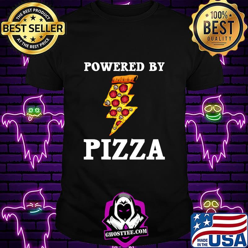 Official Powered By Pizza Cool Pizza Lover  Shirt