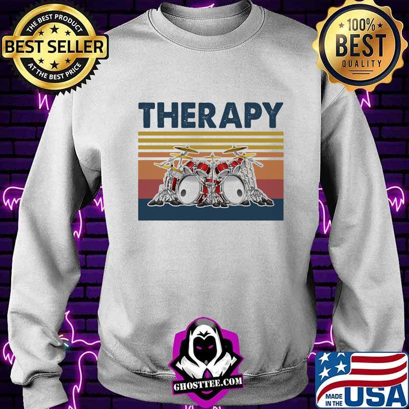 Official Therapy Drum Band Music Vintage Shirt