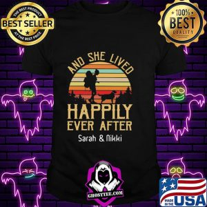 8a9c5d4e and she lived happily ever after sarah and nikki vintage sunset shirt unisex 300x300 - Home