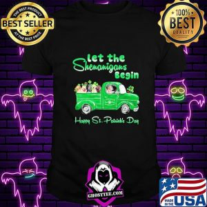 Let The Shenanigans Begin Happy St. Patrick's Day Dogs Shirt Unisex