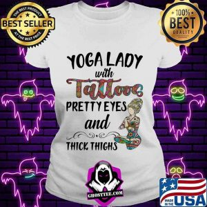 Yoga Lady With Tattoos Prettyeyes And Thick Things Shirt V-neck