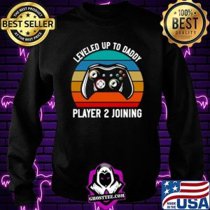Gamer Leveled Up To Daddy Player 2 Joining Retro Vintage Sweatshirt