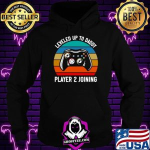Gamer Leveled Up To Daddy Player 2 Joining Retro Vintage Hoodie