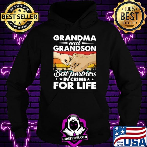 Grandma And Grandson Best Partners In Crime For Life Vintage Shirt