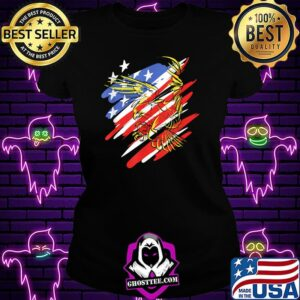 USA Flag Red White and Blue with Eagle T-Shirt Ladiestee