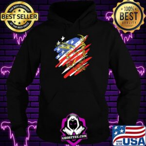 USA Flag Red White and Blue with Eagle T-Shirt Hoodie