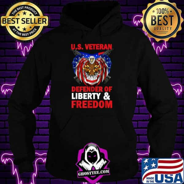 US Veteran Defender Of Liberty And Freedom 4th Of July Eagle T-Shirt