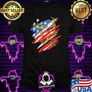 USA Flag Red White and Blue with Eagle T-Shirt