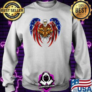 Patriotic Eagle 4th of July USA American Flag T-Shirt Sweater