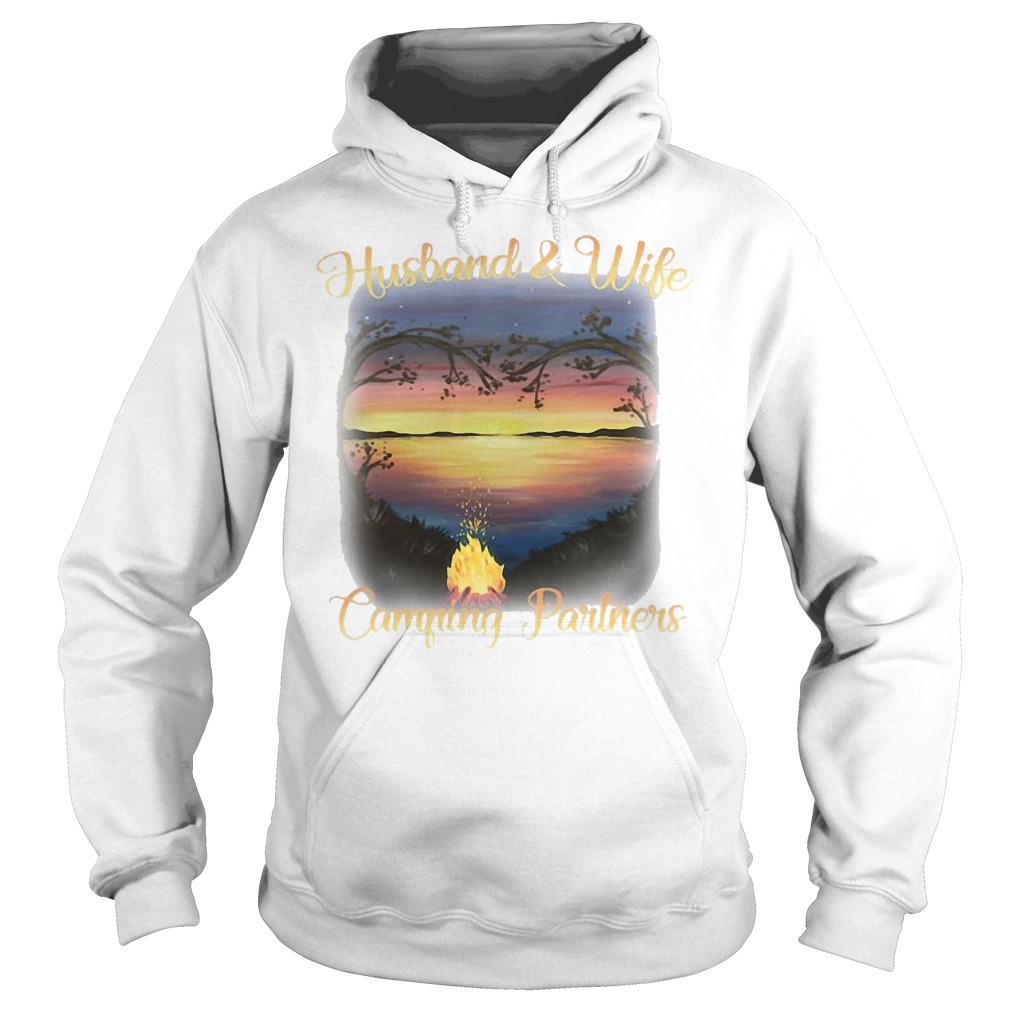husband wife camping partners life hoodie - Husband wife camping partners for life shirt, ladies tee, v-neck, tank top