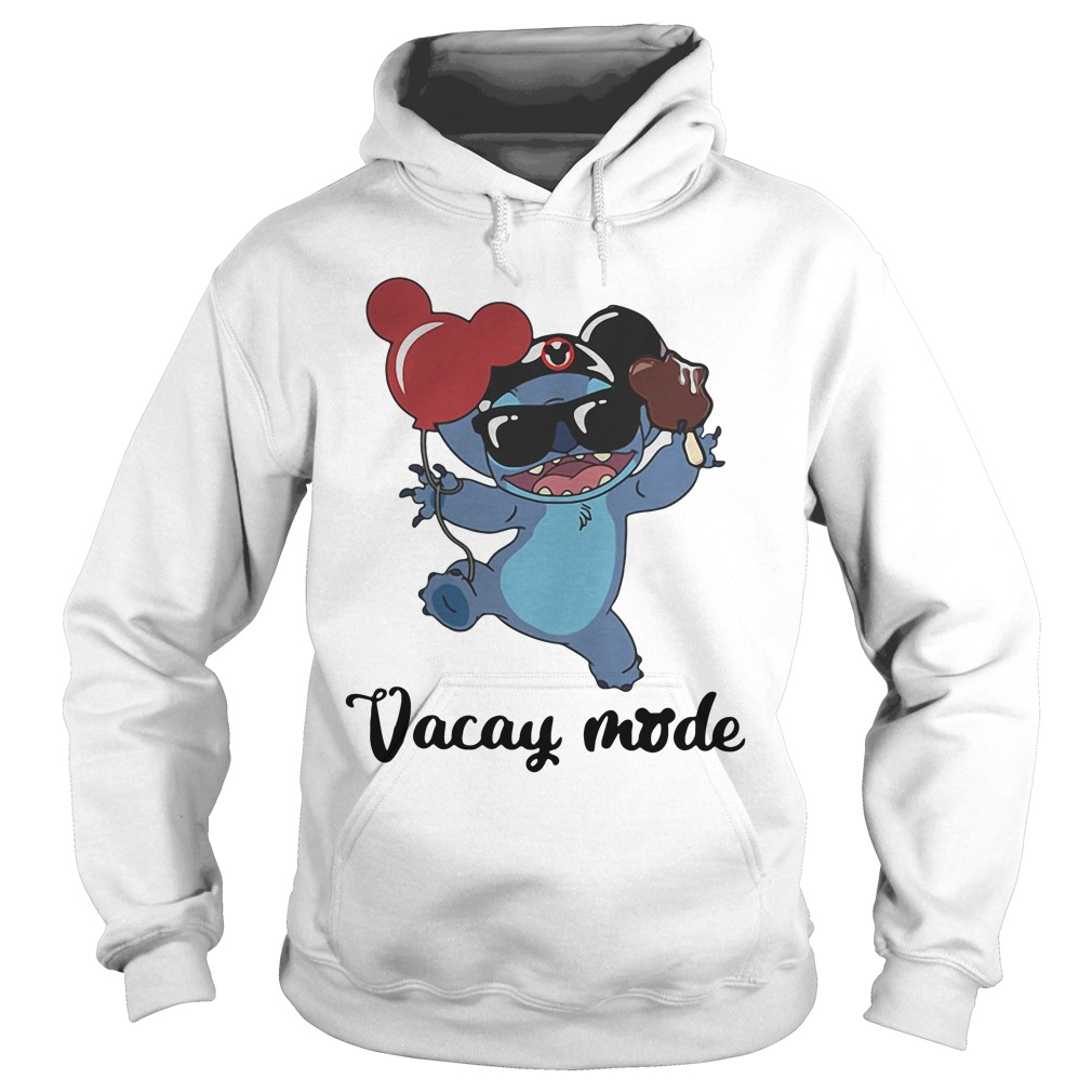 stitch with mickey mouse ears vacay mode hoodie - Size Guide