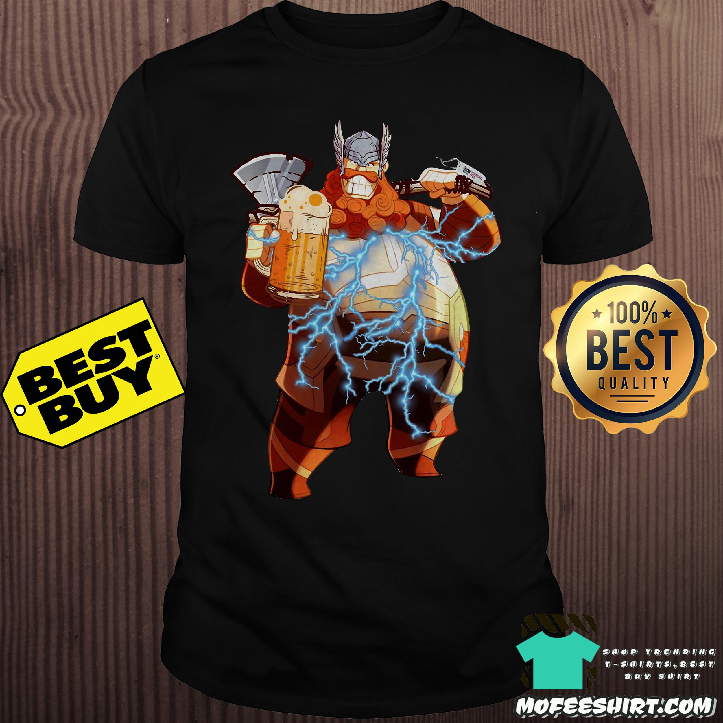 Avenger Endgame Fat Thor And Beer Shirt