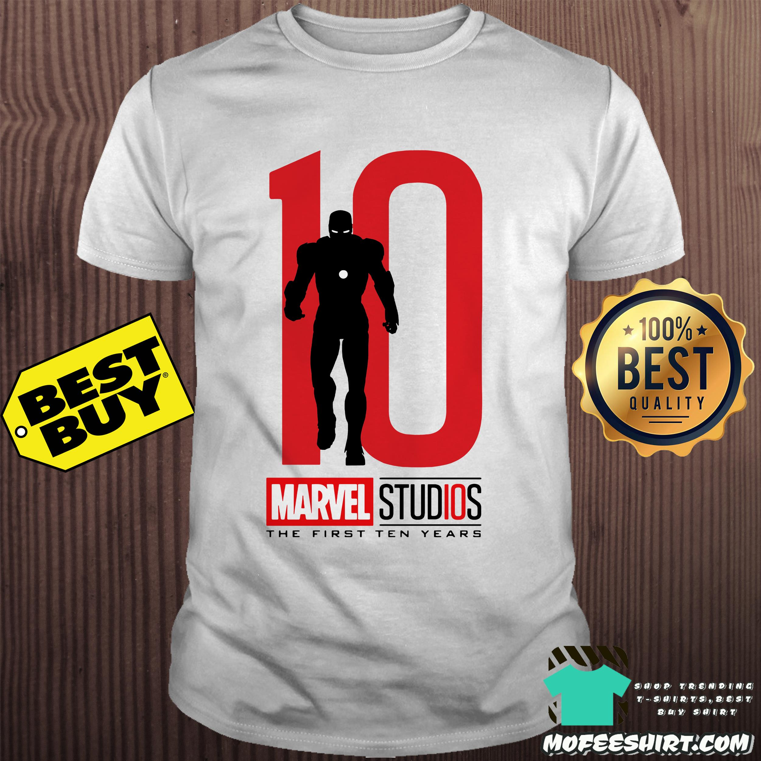 Captain America Marvel studios the first ten years shirt