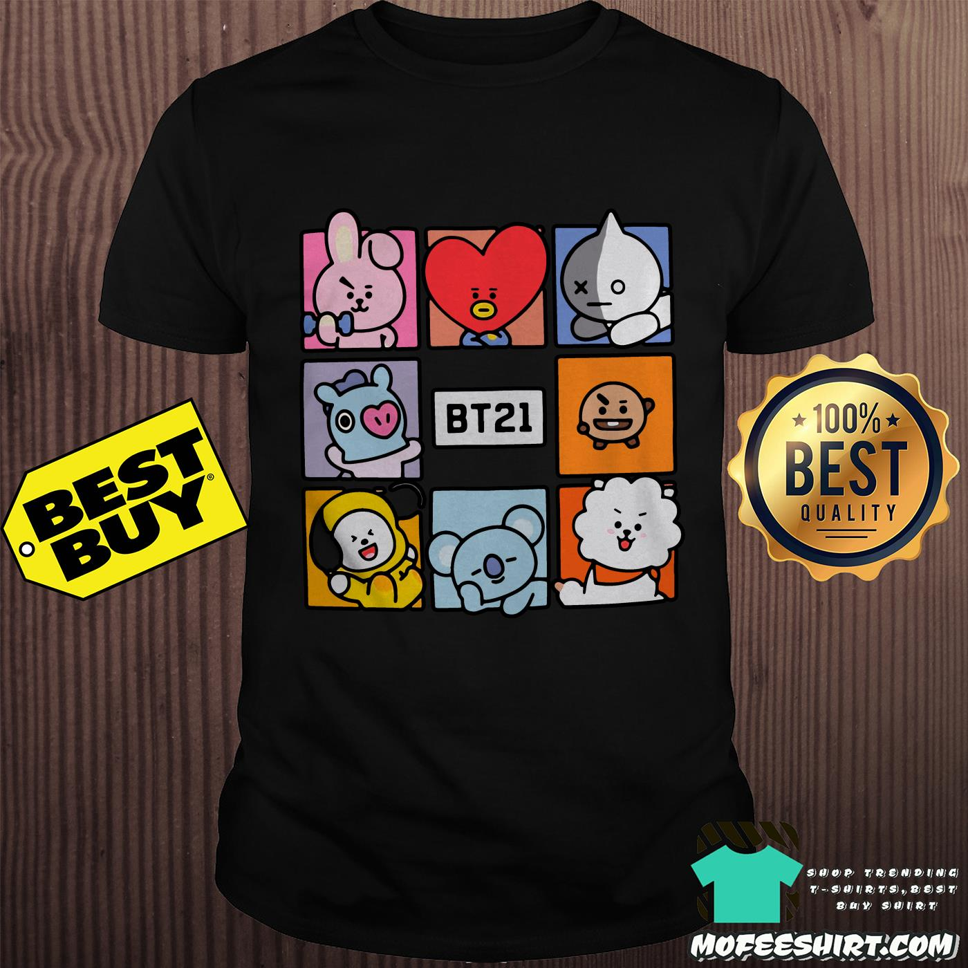 Hot topic BT21 squares shirt