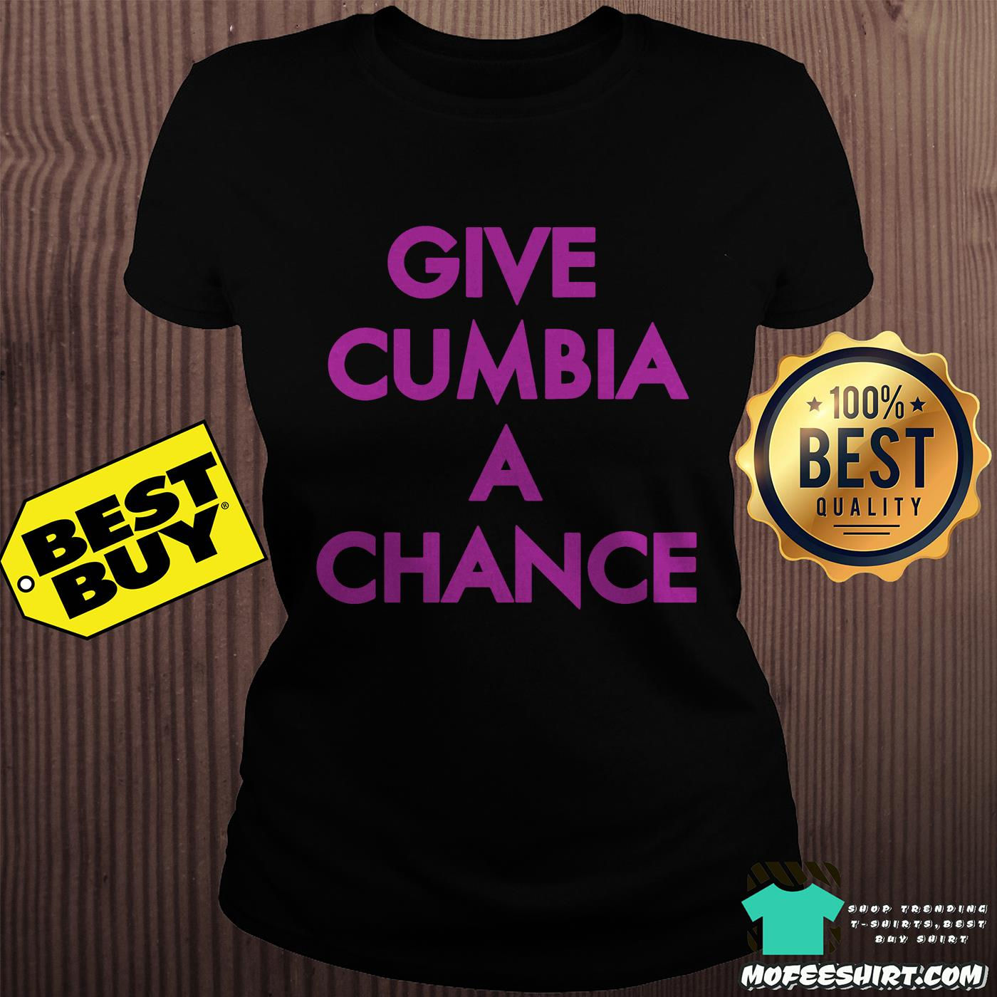 mexican institute of sound give cumbia a chance ladies tee - Mexican Institute of Sound Give Cumbia a chance shirt