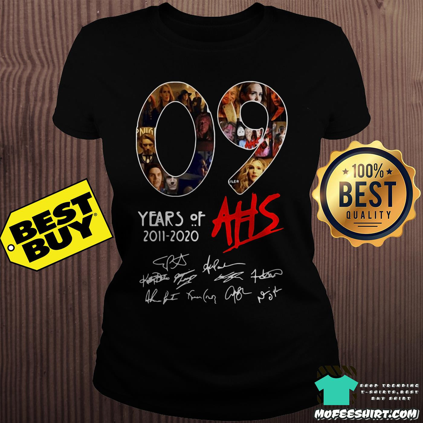 09 years of ahs 2011 2020 signatures ladies tee - 09 Years Of AHS 2011-2020 Signatures shirt