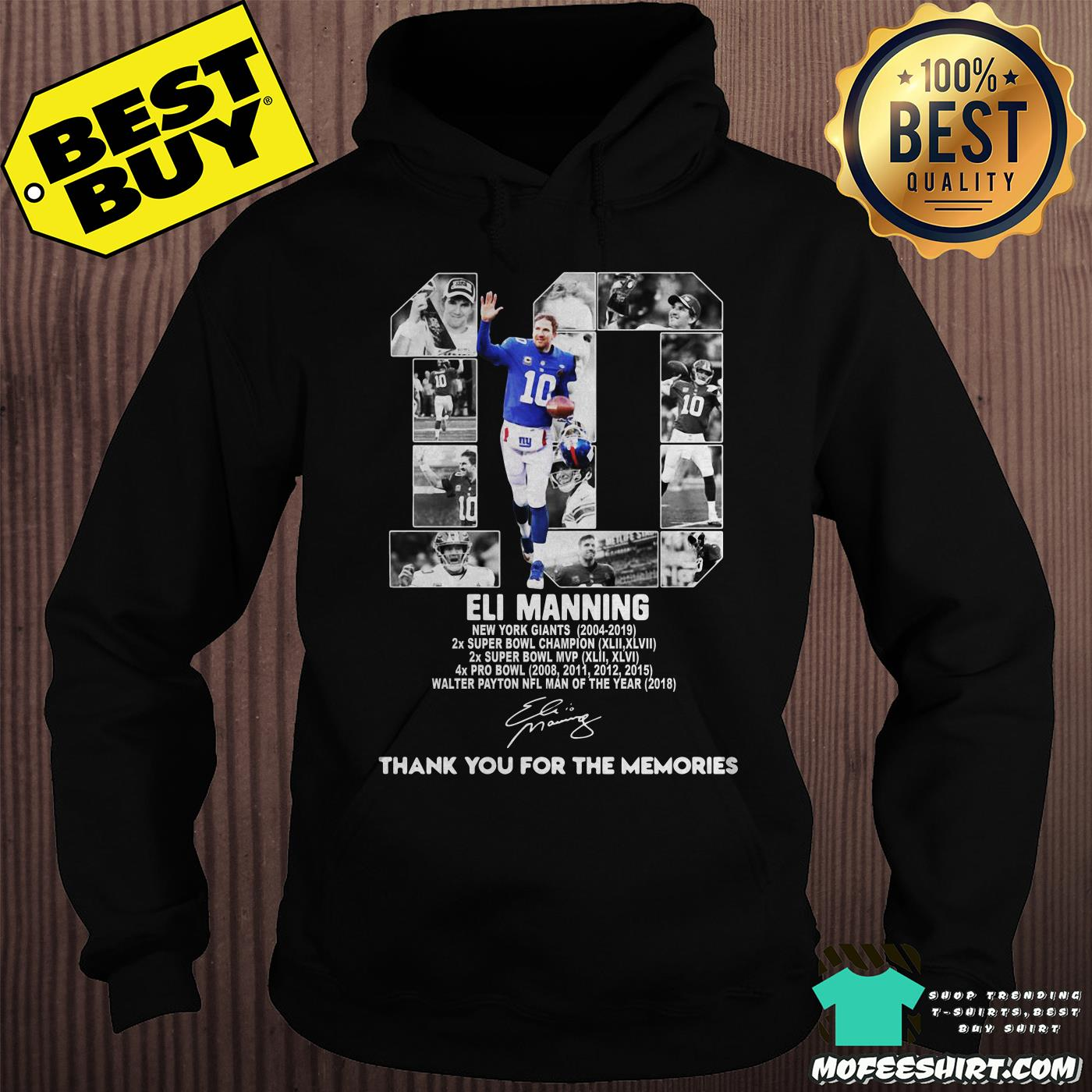 brand new 6dad0 7d4b7 [Sale 20%] Official 10 Eli Manning New York Giants 2004-2019 thank you for  the memories signatures shirt