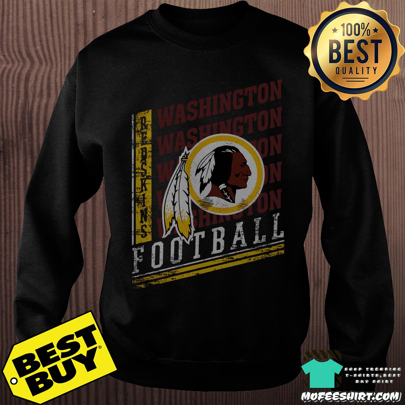 Majestic Burgundy Washington Football Redskins NFL Boys Maroon Frequency shirt
