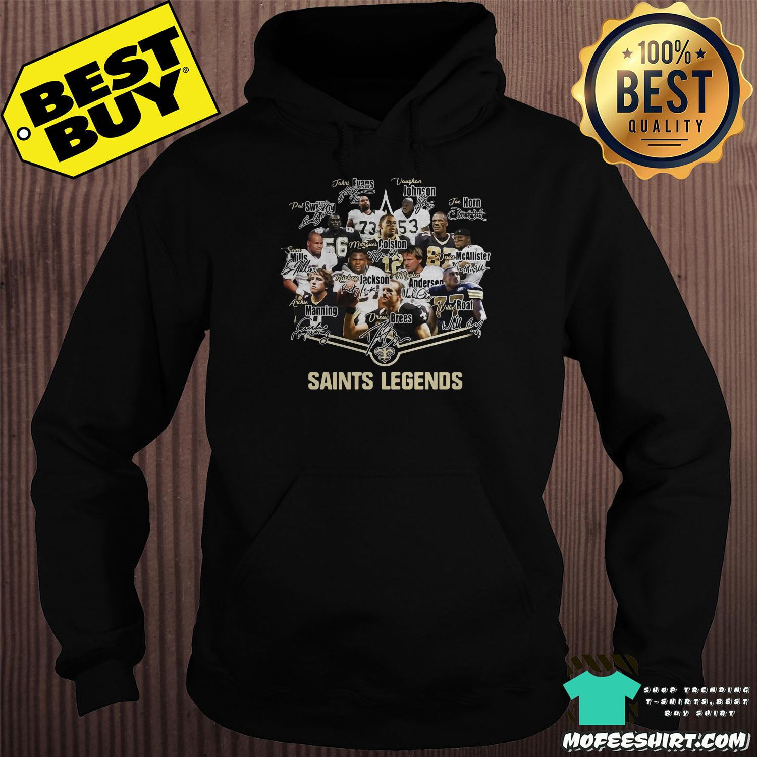 New Orleans Saints Legends Logo Signatures shirt