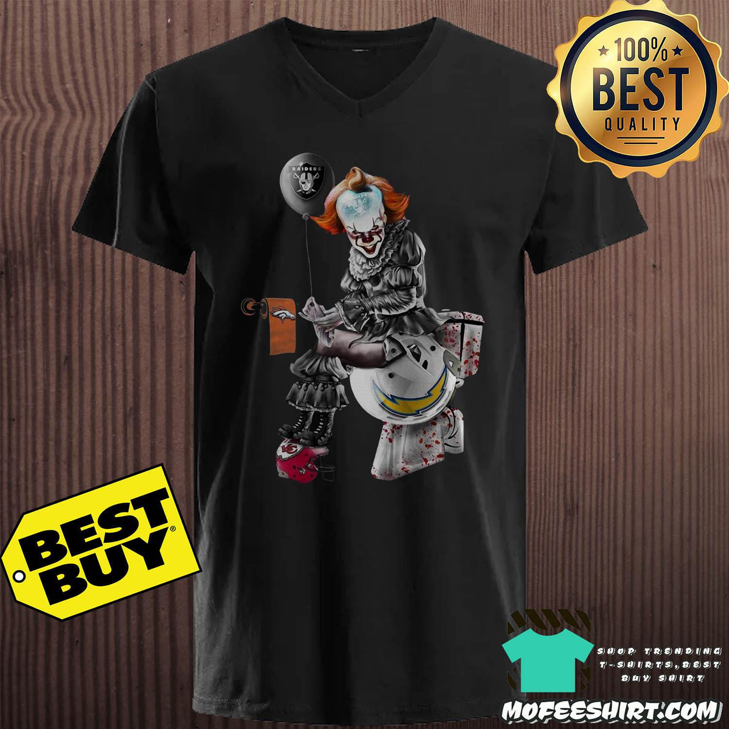 Pennywise Oakland Raiders Denver Broncos Kansas City ChiefsLos Angeles Chargers Toilet shirt