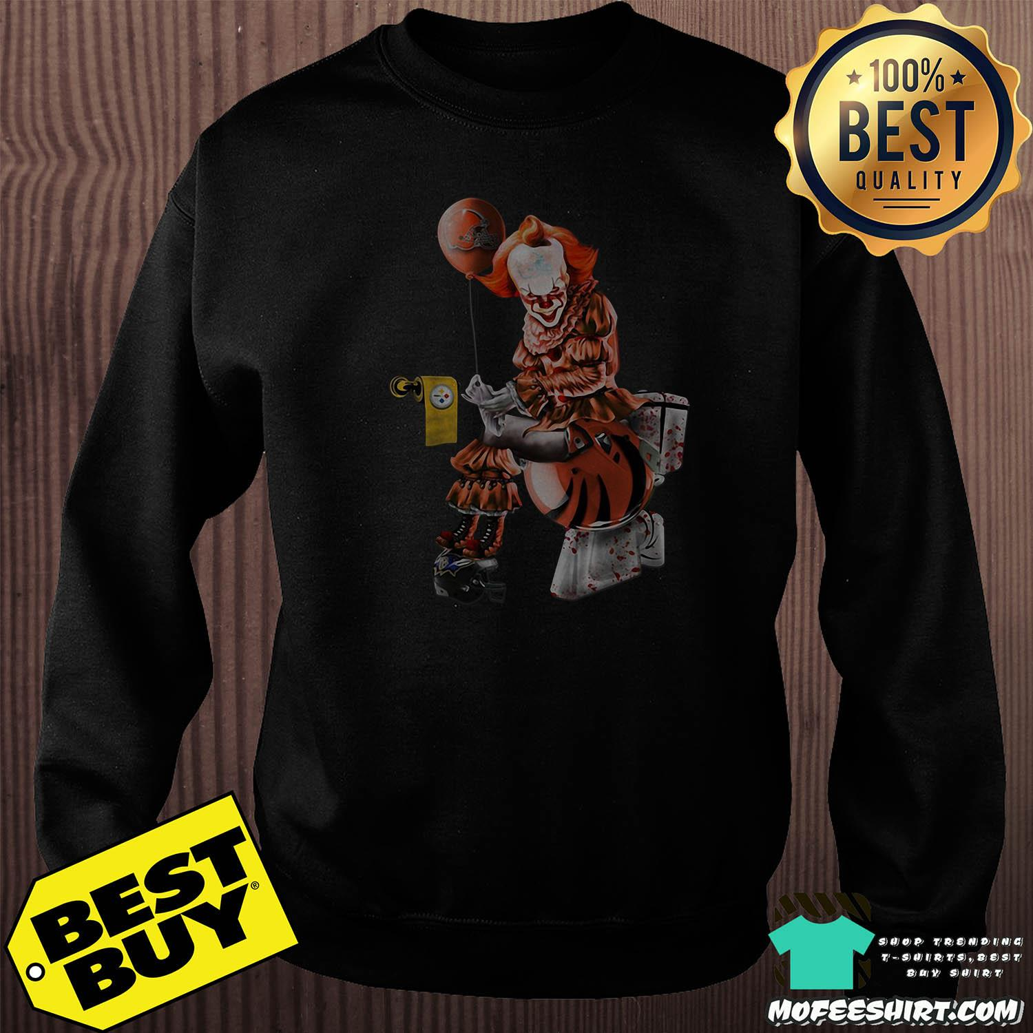 pennywise pittsburgh steelers cleveland browns baltimore ravens toilet sweatshirt - Pennywise Pittsburgh Steelers Cleveland Browns Baltimore Ravens Toilet shirt