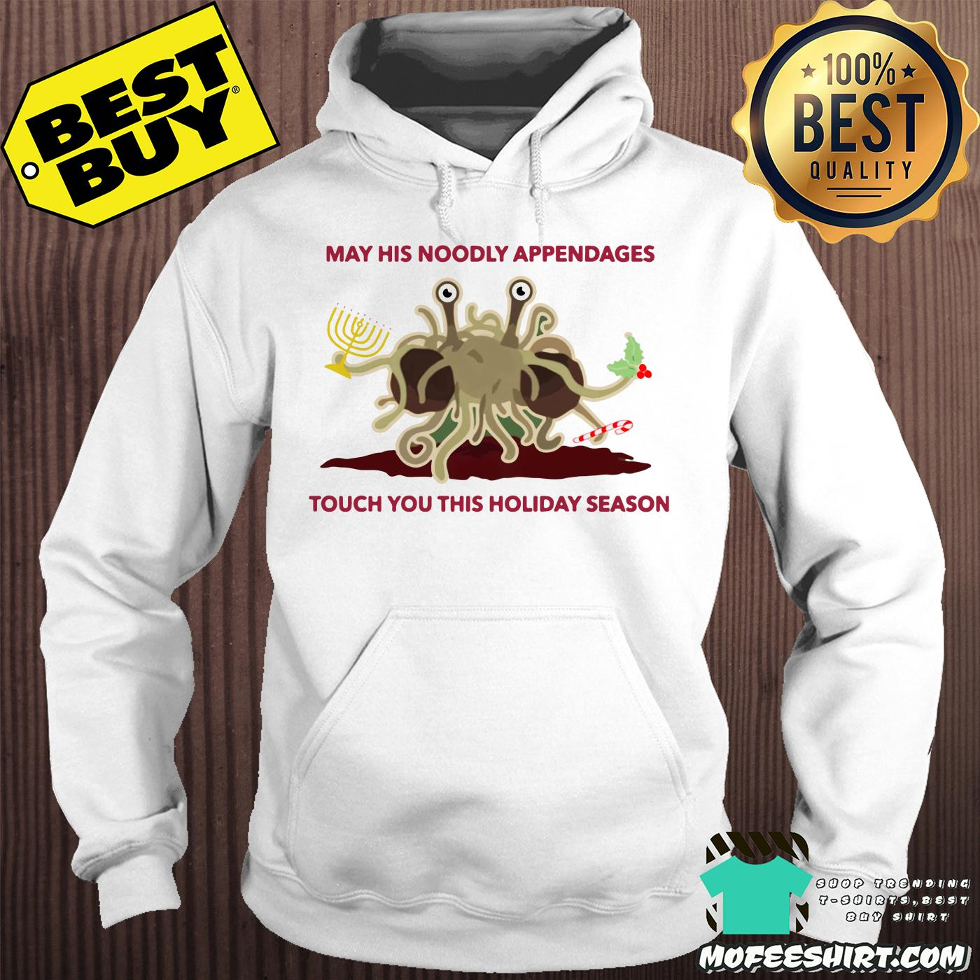 spaghetti monster may his noodly appendages touch you this holiday season hoodie - Spaghetti Monster May his Noodly appendages touch you this holiday season shirt