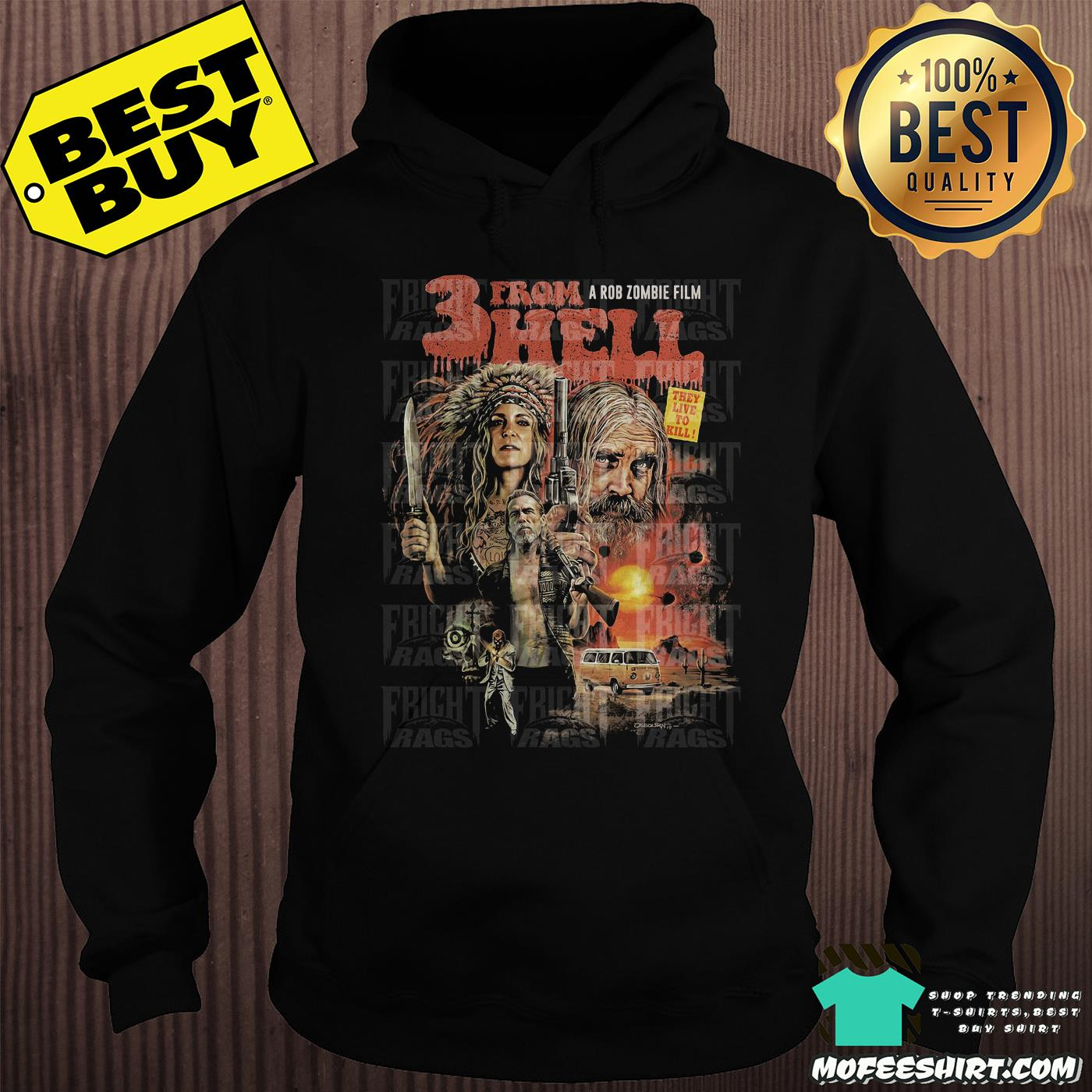 Three From Hell A Rob Zombie Film They Live To Kill Poster shirt