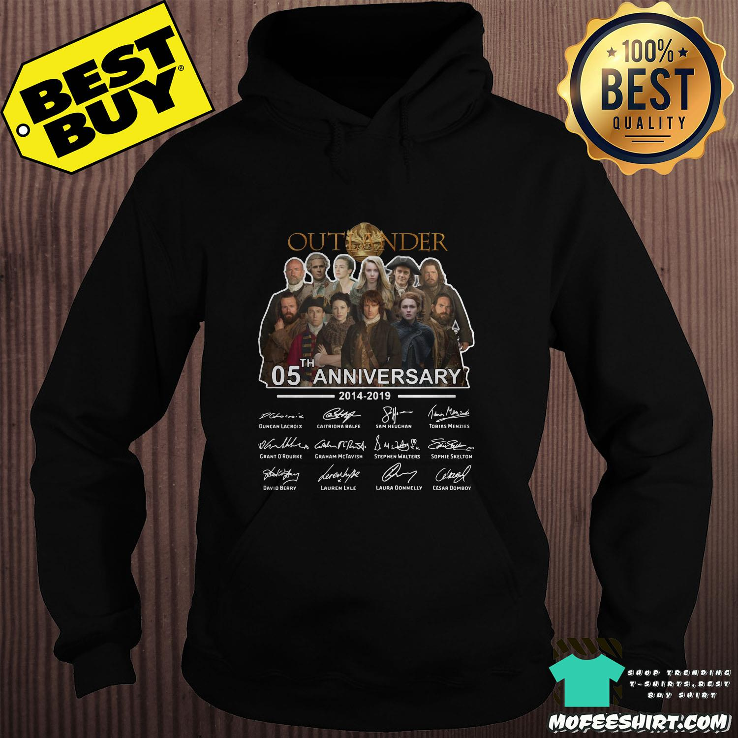 05th anniversary outlander 2014 2019 signatures hoodie - 05th Anniversary Outlander 2014-2019 signatures shirt
