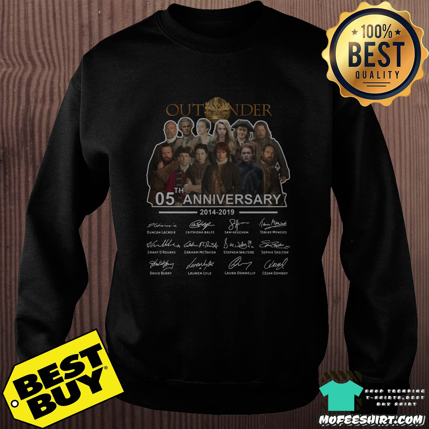 05th anniversary outlander 2014 2019 signatures sweatshirt - 05th Anniversary Outlander 2014-2019 signatures shirt