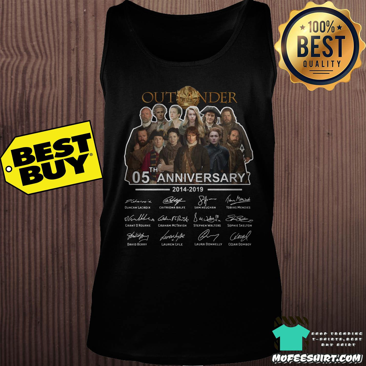 05th anniversary outlander 2014 2019 signatures tank top - 05th Anniversary Outlander 2014-2019 signatures shirt