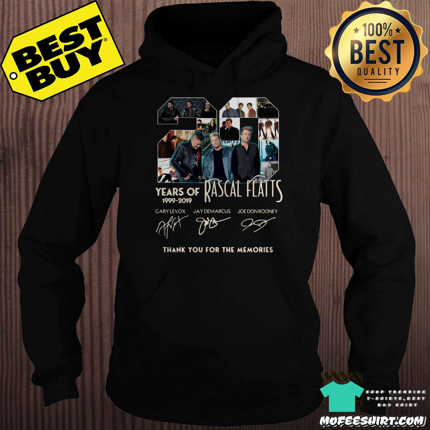 20 years of rascal flatts 1999 2019 thank you for the memories signature hoodie - 20 Years of Rascal Flatts 1999-2019 thank you for the memories signature shirt