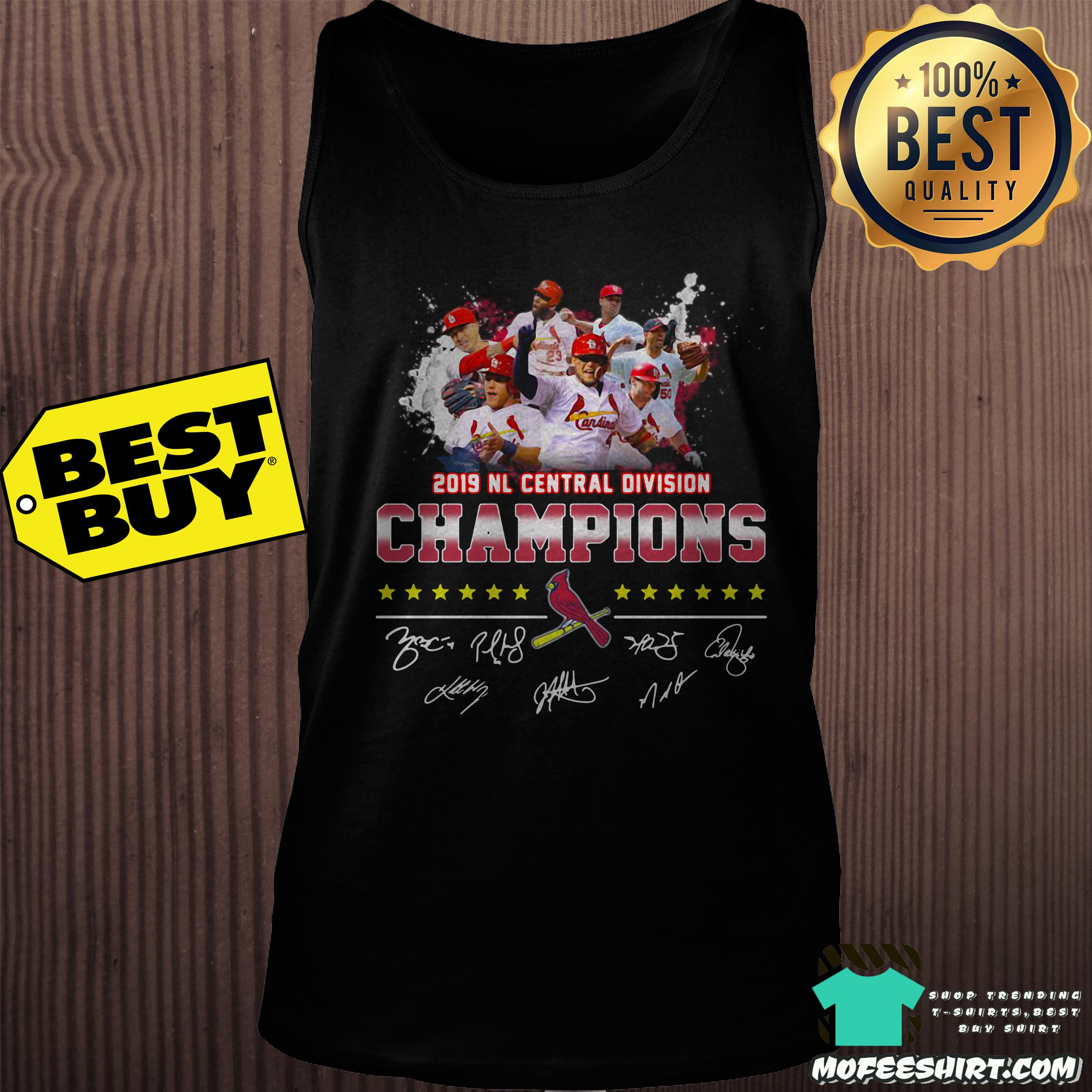 2019 nl central division champions st louis cardinals signatures tank top - 2019 NL Central Division Champions St Louis Cardinals signatures shirt