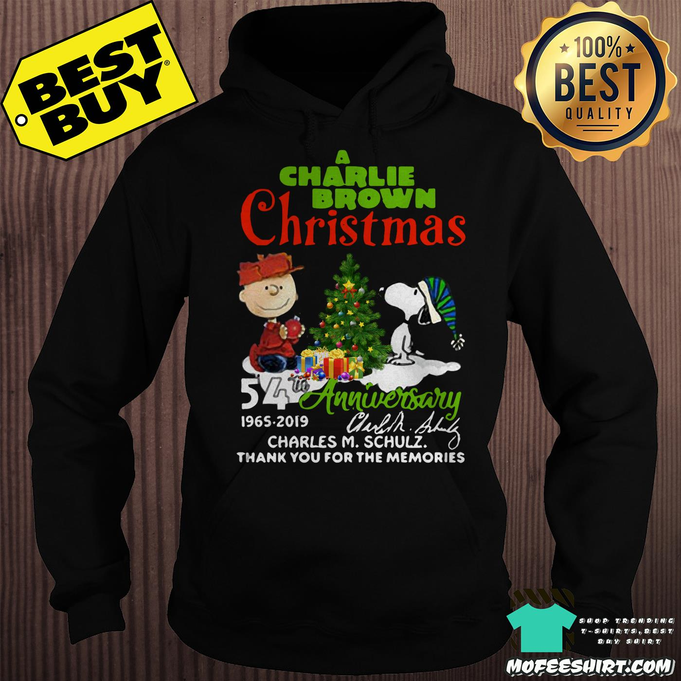 a charlie brown christmas 54th anniversary 1965 2019 signature hoodie - A Charlie Brown Christmas 54th Anniversary 1965-2019 Signature Shirt