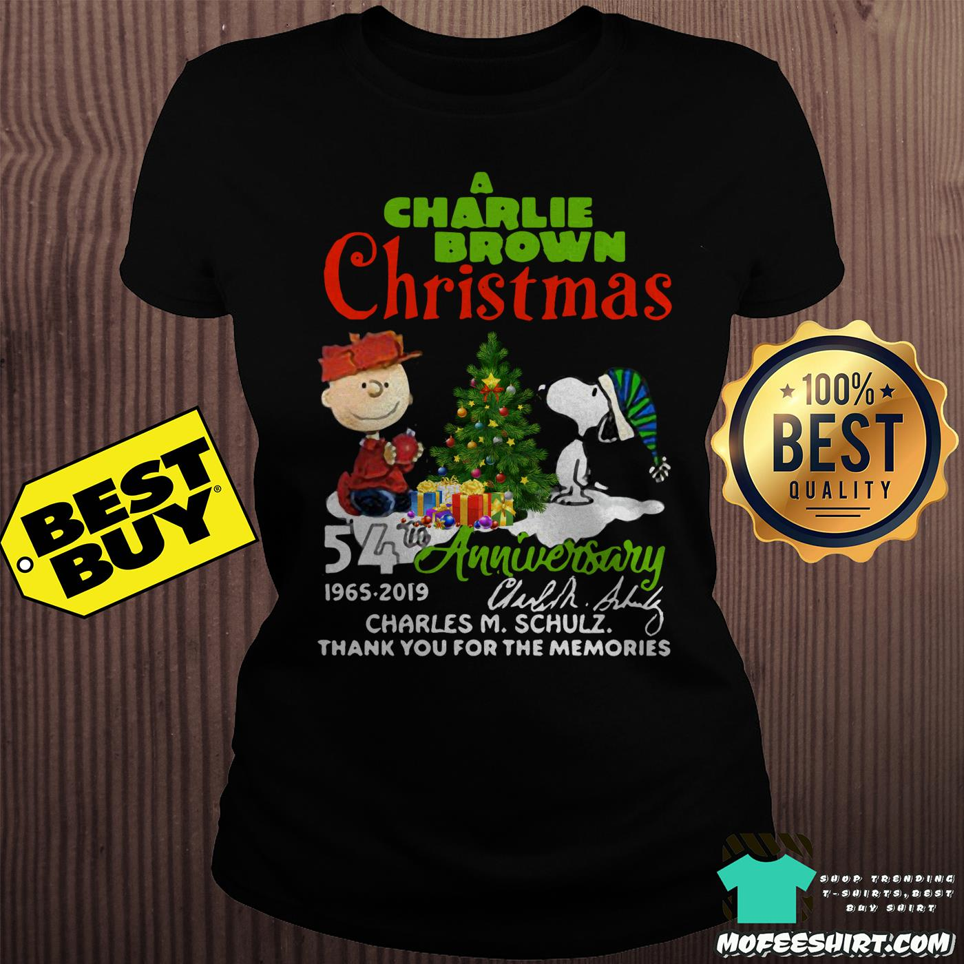 a charlie brown christmas 54th anniversary 1965 2019 signature ladies tee - A Charlie Brown Christmas 54th Anniversary 1965-2019 Signature Shirt