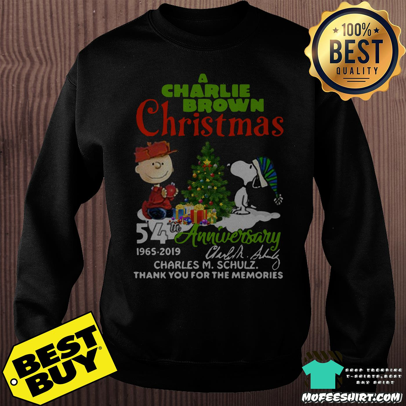 a charlie brown christmas 54th anniversary 1965 2019 signature sweatshirt - A Charlie Brown Christmas 54th Anniversary 1965-2019 Signature Shirt