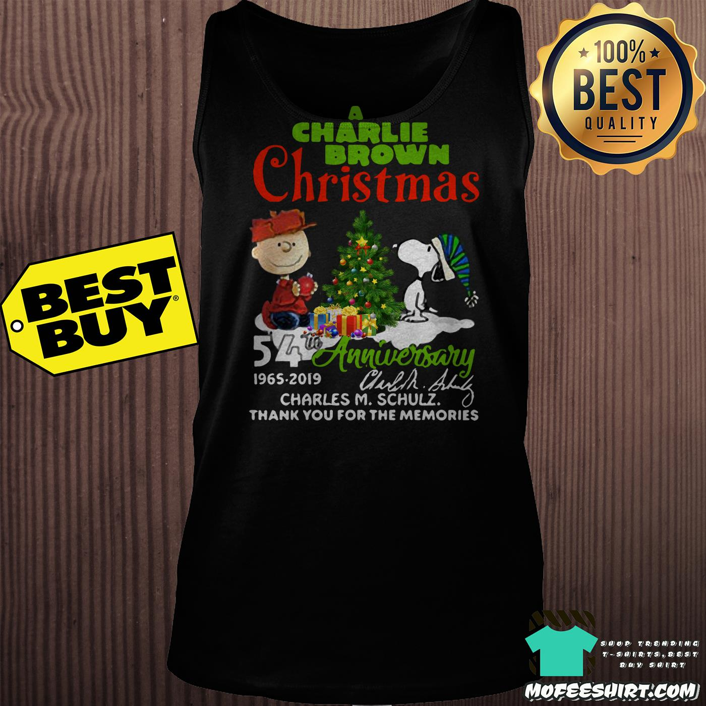 a charlie brown christmas 54th anniversary 1965 2019 signature tank top - A Charlie Brown Christmas 54th Anniversary 1965-2019 Signature Shirt