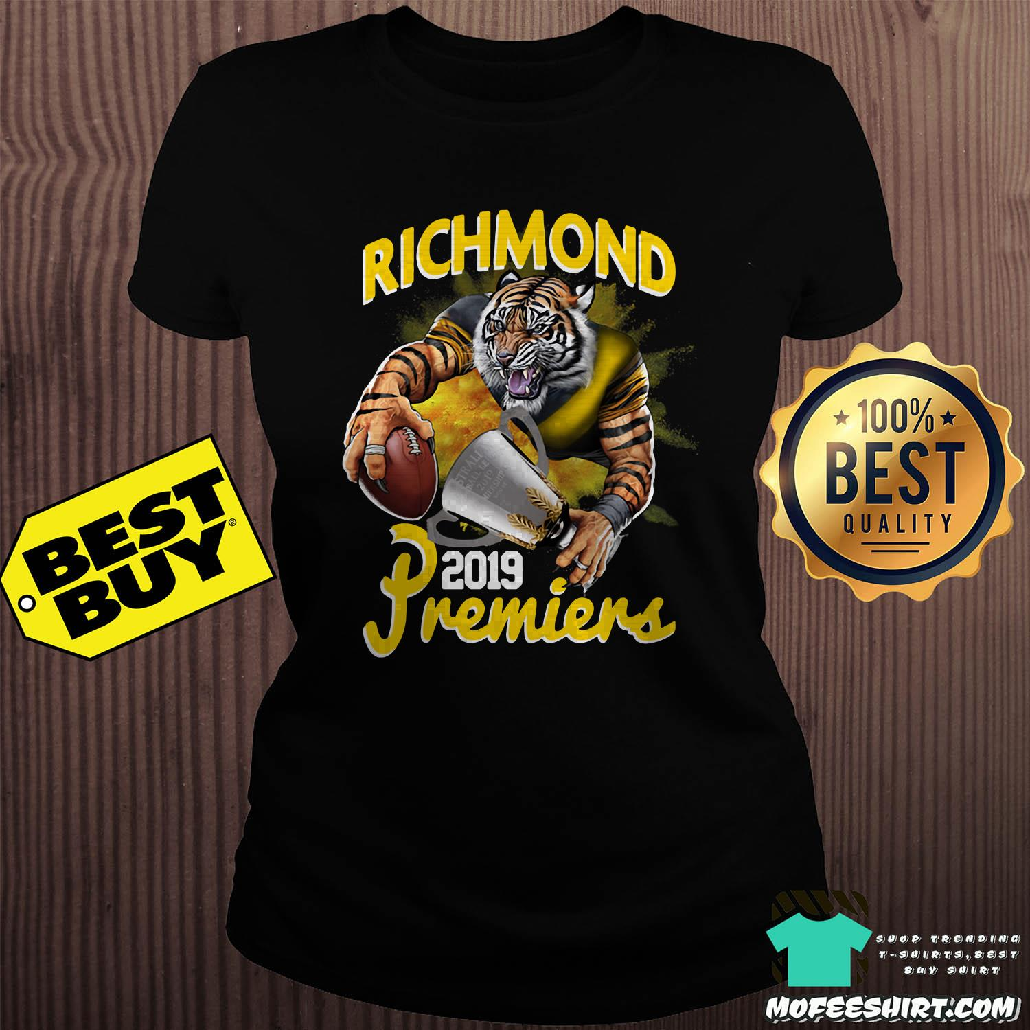 afl richmond tigers premiers 2019 ladies tee - AFL Richmond Tigers Premiers 2019 shirt