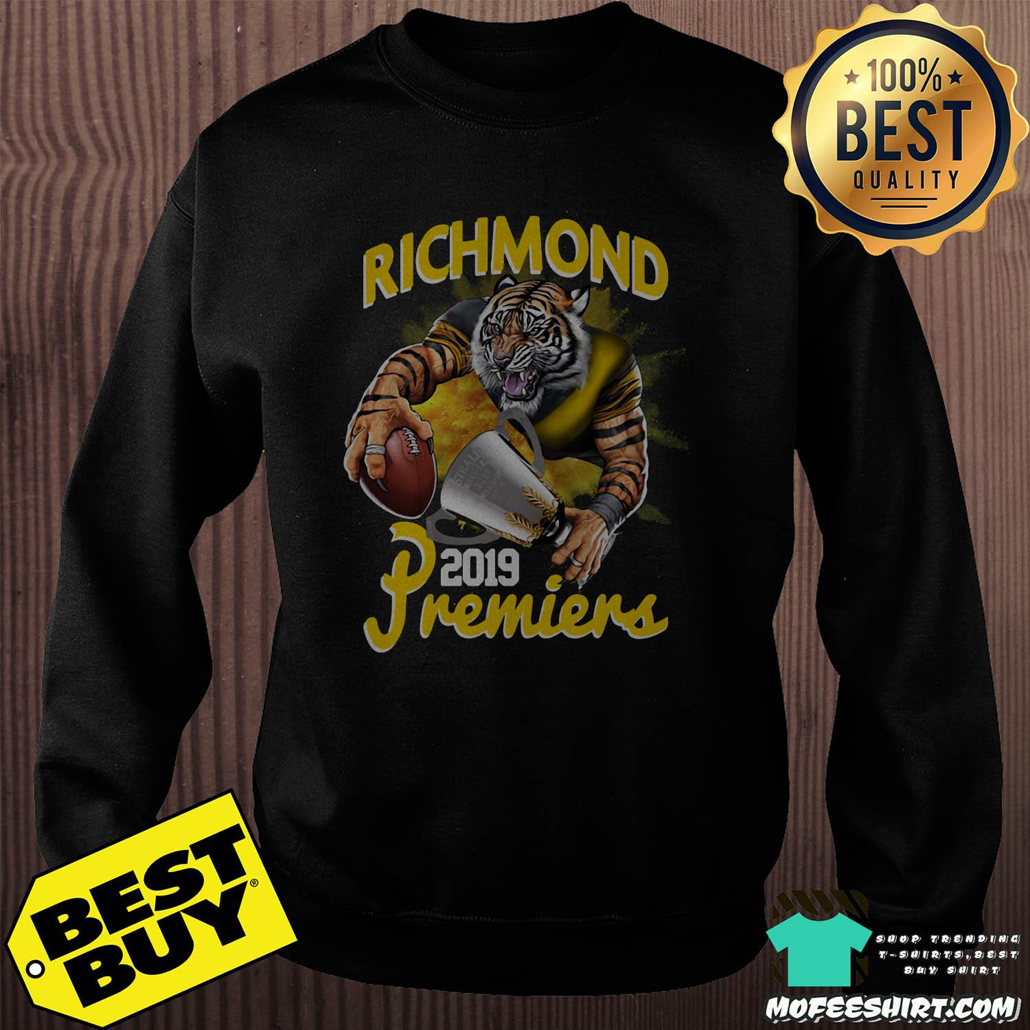 afl richmond tigers premiers 2019 sweatshirt - AFL Richmond Tigers Premiers 2019 shirt