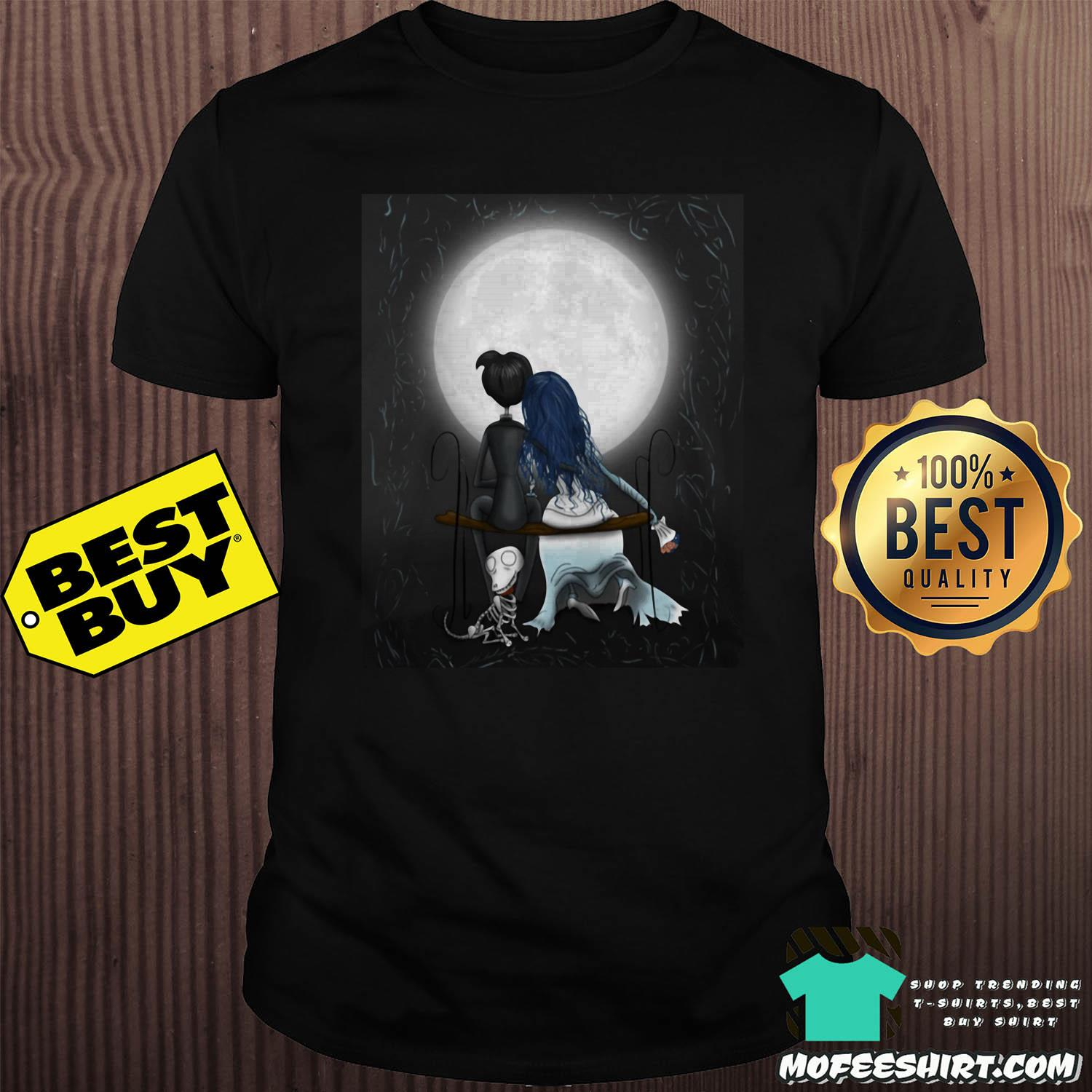 Corpse Bride Tim Burton Love In The Moon shirt