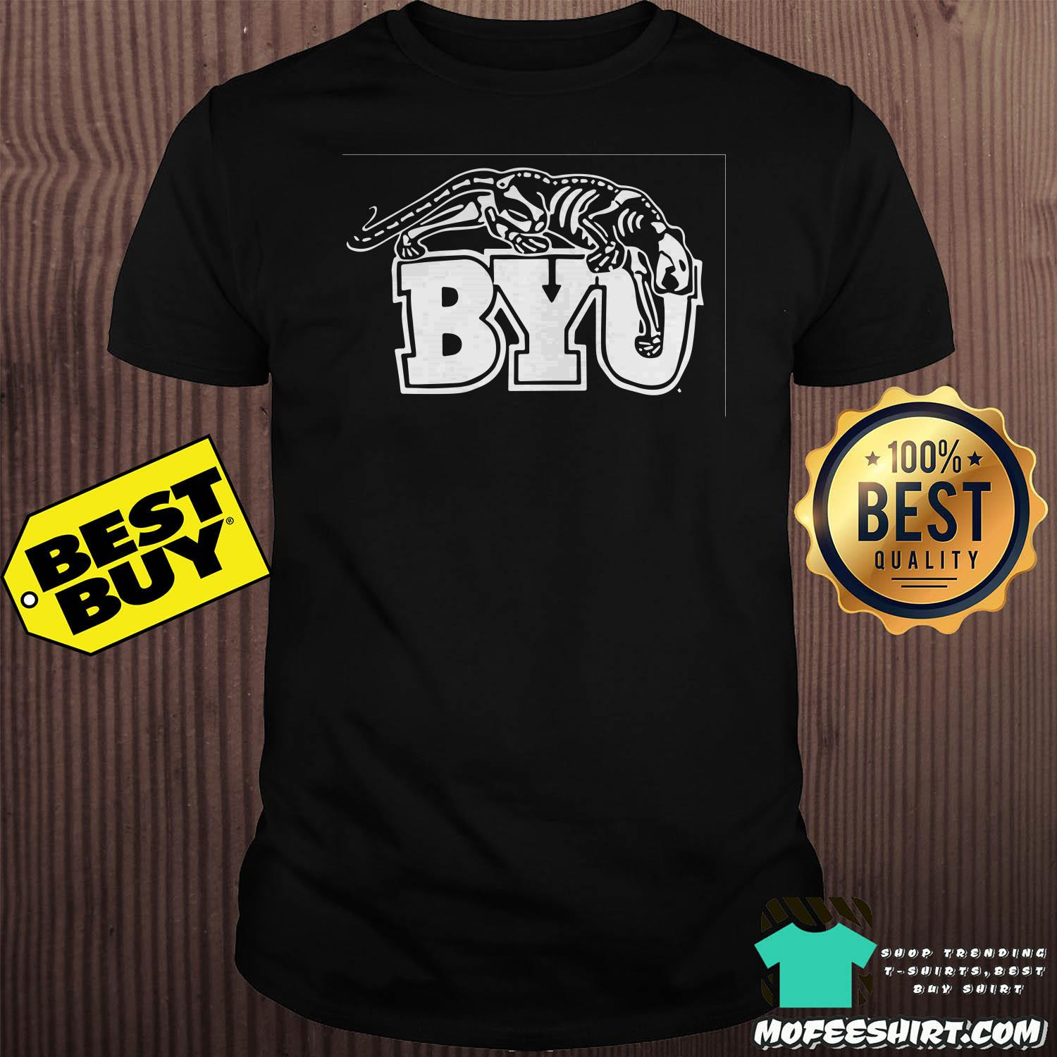 Glow In The Dark Grave Digger Skeleton Byu Shirt