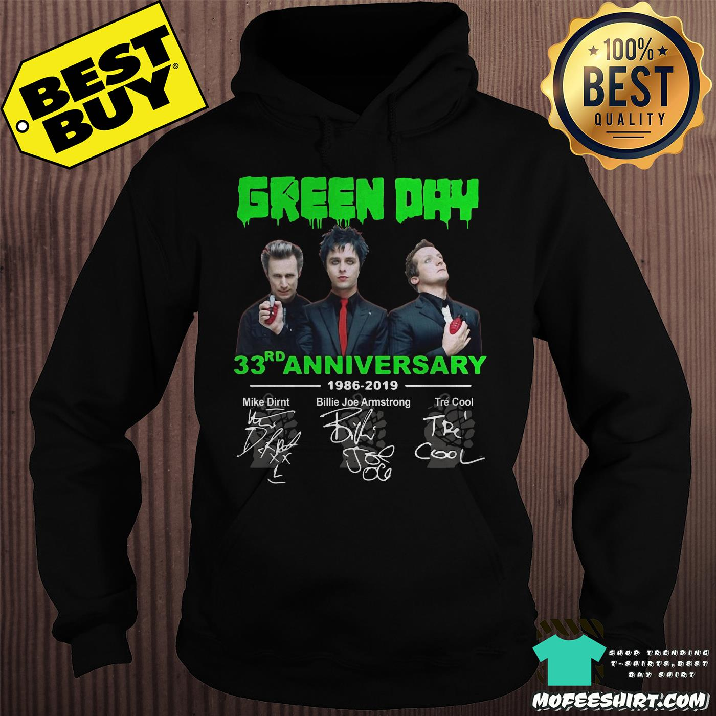 green day 33th anniversary 1986 2019 signatures hoodie - Green Day 33rd Anniversary 1986-2019 signatures shirt