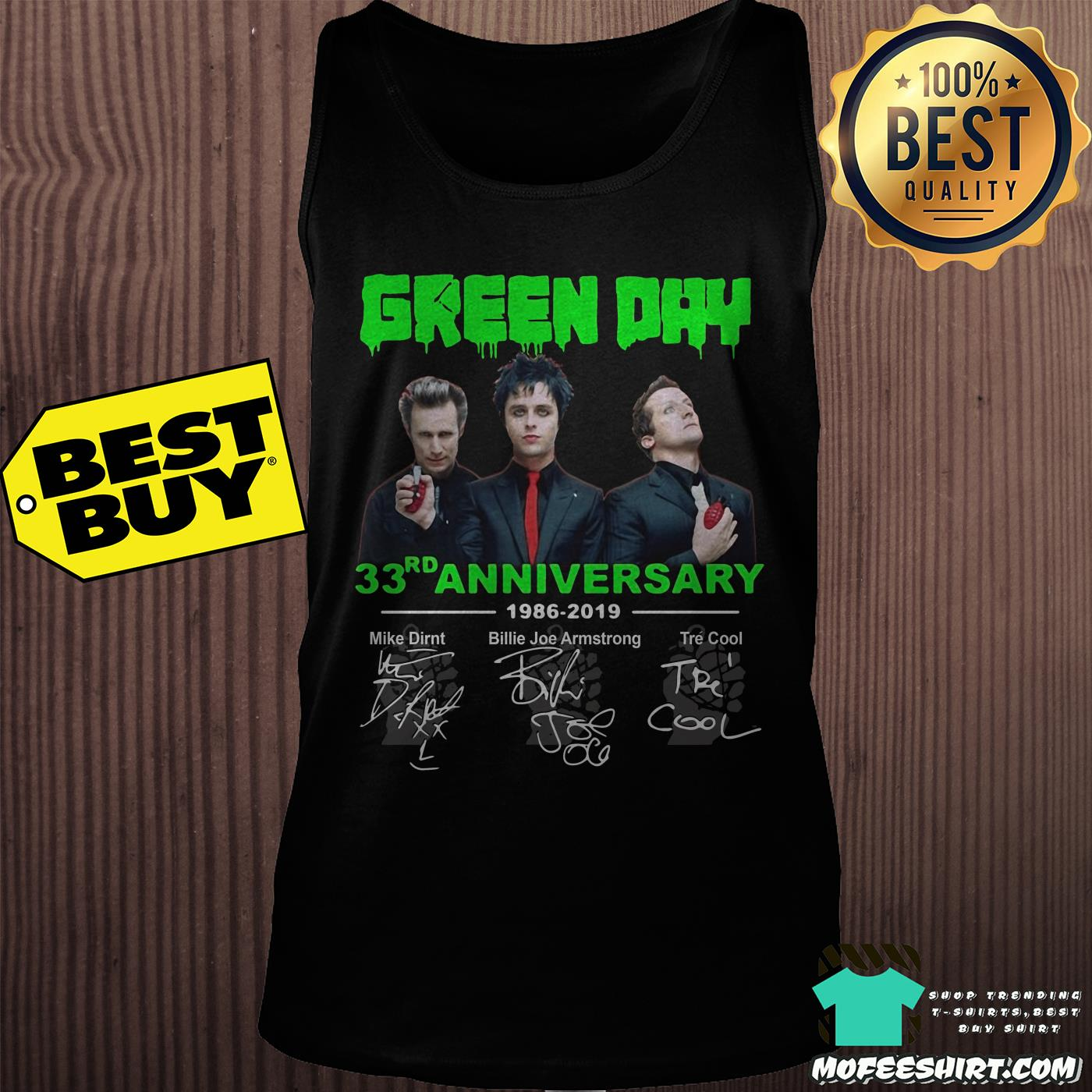 green day 33th anniversary 1986 2019 signatures tank top - Green Day 33rd Anniversary 1986-2019 signatures shirt